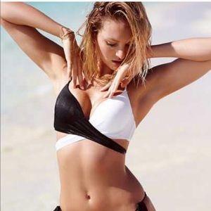VS B/W wrap bikini top.